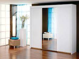 Sliding Mirror Wardrobe New York 3 Door 1 Mirror Sliding Door Wardrobe In White Warehouse