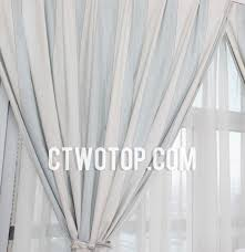 Pale Blue Curtains Inexpensive White And Pale Blue Striped Country Curtains