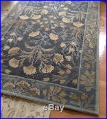 barn adeline rug blue 3x5 floral leaves tufted wool authentic new Pottery Barn Adeline Rug