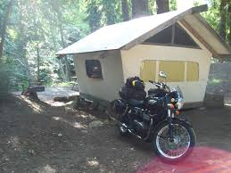 Tent Cabin by Camping On A Motorcycle The Cabin Alternative Motomuso