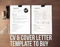 cv resume cover letter set v2 word psd ai on behance