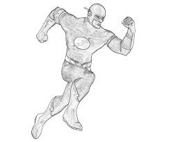 flash superhero coloring pages