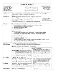 Resume Sample Experience by Housekeeping Resume Template Design