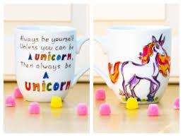 always be a unicorn funny quote mug hand painted coffee mug