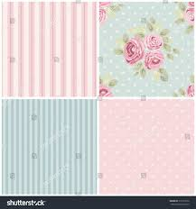 set cute seamless shabby chic patterns stock vector 313723376