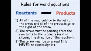 ks3 chemistry writing word equations youtube