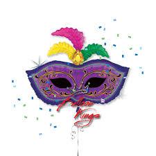 mardi gras feather masks mardi gras feather mask balloon