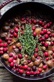 cranberry beef bourguignon half baked harvest