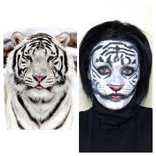 fantasy halloween makeup snow tiger makeup fantasy u0026 halloween airbrush makeup