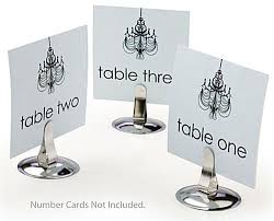 dining table place card holders silver