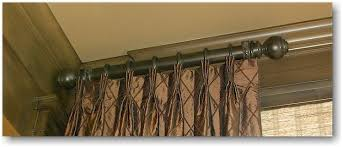 Decorative Rods For Curtains Custom Curtain Rods Within Decorative Traverse With Rod Awesome
