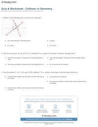 quiz u0026 worksheet collinear in geometry study com