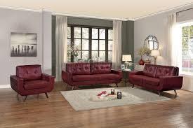 sofa match deryn sofa 8327red in red leather gel match by homelegance