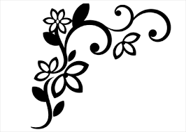 corner pattern png flower corner wallstickers