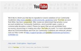 my bs youtube suspension and what it means for you