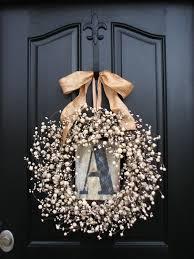 Wreath For Front Door Monogram Wreaths Wedding Wreathpersonalized Decor