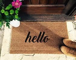 Welcome Doormats Welcome Mat Etsy