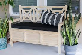 Outdoor Wood Storage Bench Plans by How To Build A Diy Outdoor Storage Bench