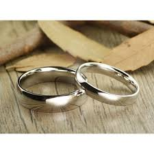 white gold wedding band his and hers matching white gold wedding bands rings 6mm
