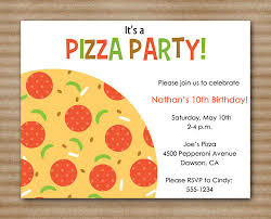 pizza party invitation slumber party by paperhousedesigns