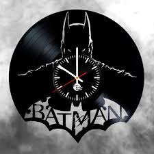 Unique Clocks Batman Vinyl Record Wall Clock Vinyl Clocks Vinyl Pinterest