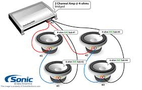 single voice coil wiring diagram single subwoofer to amp diagrams