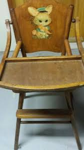 Antique Wood High Chair Antique Convertible Baby Stroller High Chair With Markings On The