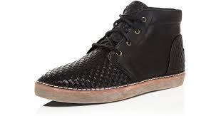 womens sneaker boots australia ugg australia alin woven chukka sneaker boots in black for lyst
