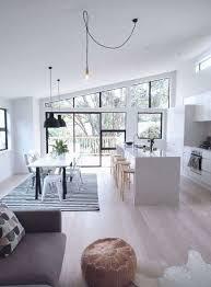 cucina e sala da pranzo cucina e soggiorno open space bianco e nero a contrasto