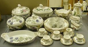 extensive spode stafford flowers tea and dinner service