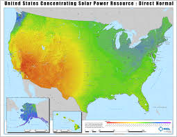 Southeast United States Map by Solar Maps Geospatial Data Science Nrel