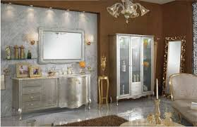 luxury bathroom vanities silver stainless steel sink mirror white