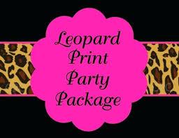 cheetah print party supplies leopard birthday invitations multi animal print party invitation