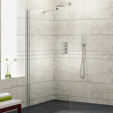 B Q Shower Doors by 1000mm Wetroom Shower Enclosure Glass Screen Panel Set Ibathuk