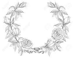 flower wreath roses wreath flower wreath vector floral circle border