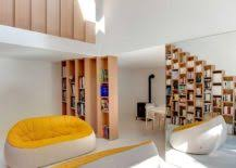 Beech Bookshelves by Custom Stepped Bookshelves Steal The Spotlight Inside This Posh