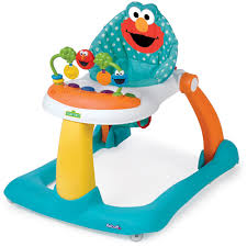 Elmo Bathroom Accessories Sesame Street Elmo 2 In 1 Activity Walker Walmart Com