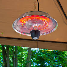 Floor Standing Electric Patio Heater by Energ 1500 Watt Hanging Electric Infrared Gazebo Heater Brushed