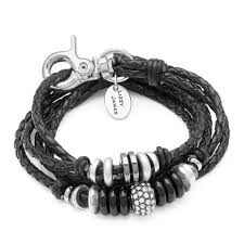braided leather wrap bracelet images Julie braided leather wrap in silverplate by lizzy james jpg