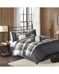 Plaid Bed Set 50 Park Pioneer 7 Plaid Comforter Set