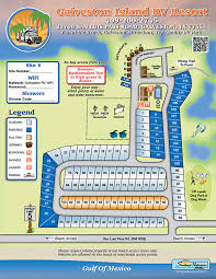 galveston island map galveston island rv resort