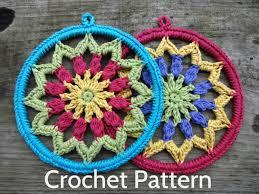 free crochet patterns for home decor pdf crochet pattern evelyn s mandala 6 inch