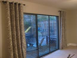 Door Panel Curtains Curtain Ideas Curtains For Sliding Glass Doors With Vertical
