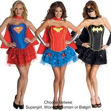 supergirl halloween costumes dc comics superhero wonder woman batgirl or supergirl