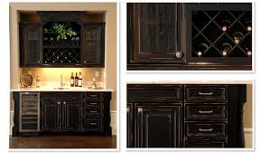 furniture custom wet bar cabinets with wine rack and dark wooden