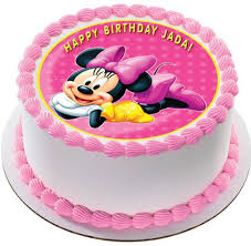 edible cake images minnie mouse edible birthday cake or cupcake topper edible