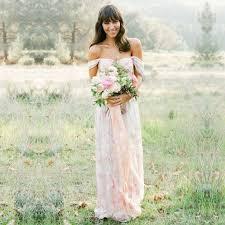 floral bridesmaid dresses the shoulder print floral bridesmaid dress for