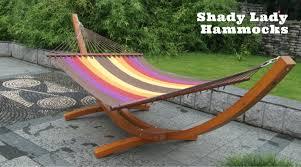 luxurious wooden arc hammock with caribbean rainbow super soft