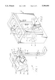 patent us5386600 latching foot pedal actuated tap water flow