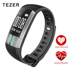 activity monitoring bracelet images Tezer r20 ecg real time monitoring blood pressure heart rate sport jpg